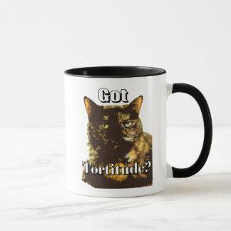 Tortitude obtenu tasse combinée avec le chat