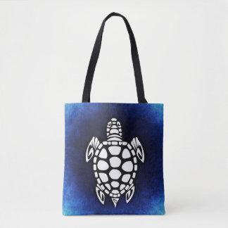 Tortue de mer bleue de sac fourre-tout