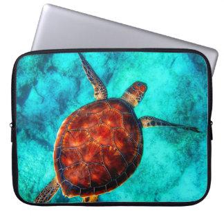 Tortue de mer colorée protection pour ordinateur portable