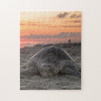 Tortue de mer dans le sable puzzle