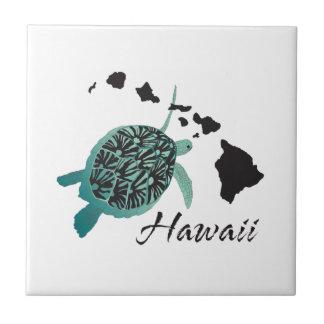 Tortue de mer d'Hawaï Petit Carreau Carré