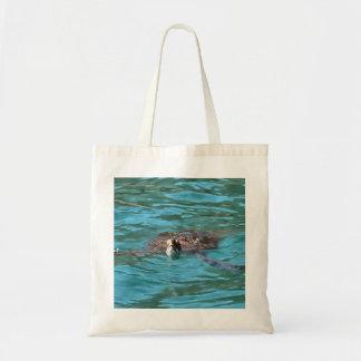 Tortue de mer d'imbécile sac en toile