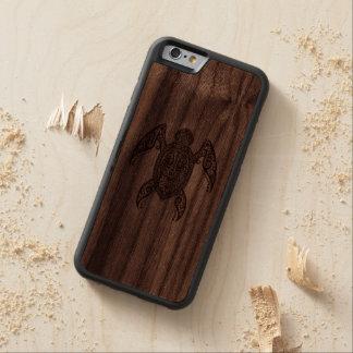 Tortue de mer en bois complexe coque iPhone 6 bumper en noyer