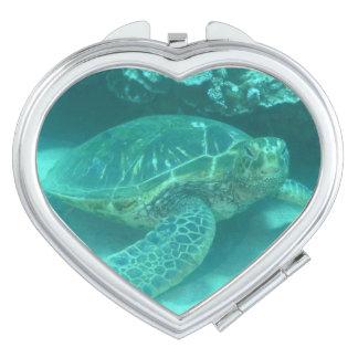 Tortue de mer miroir compact