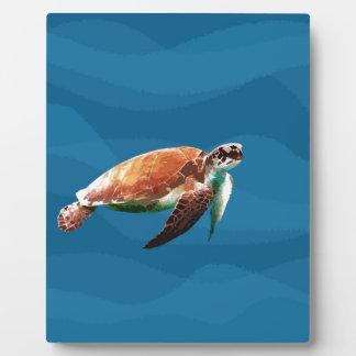 Tortue de mer plaque photo