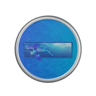 Tortue de mer sous-marine haut-parleur
