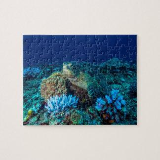 Tortue de mer sur la Grande barrière de corail Puzzle
