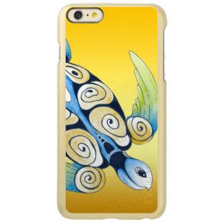Tortue de mer sur le jaune