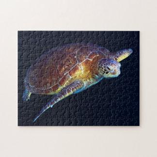 Tortue de mer verte - casse-tête puzzle