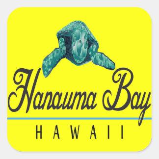 Tortue de mer verte d'Hawaï Sticker Carré