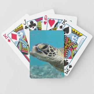 Tortue de mer verte d'Hawaï Jeu De Poker