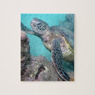 Tortue de mer verte d'Hawaï Puzzle