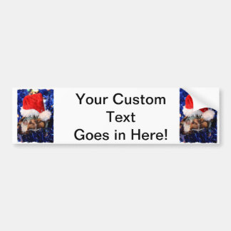 Tortue de musc Razorbacked, chapeau de Père Noël a Autocollant De Voiture