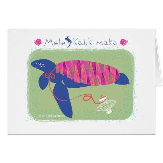 Tortue de Noël de Mele Kalikimaka /Merry Carte De Vœux