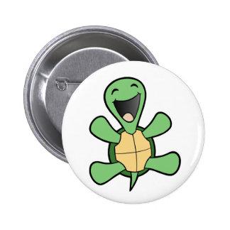 Tortue heureuse badge avec épingle