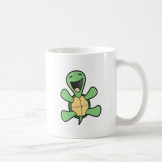 Tortue heureuse mug blanc