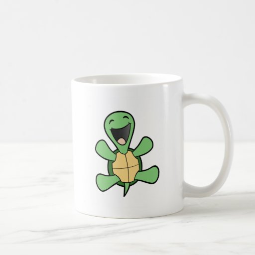 Tortue heureuse mug