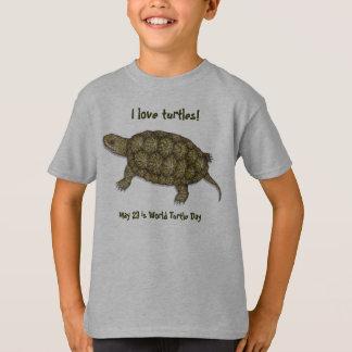 Tortue occidentale d'étang t-shirt