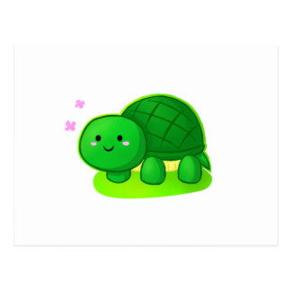 Tortue paisible carte postale