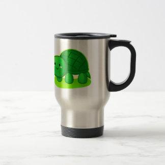 Tortue paisible mug de voyage en acier inoxydable