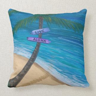 Tortue/plage réversibles du carreau 20x20 Maui Oreiller