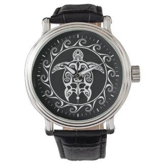Tortue tribale blanche montres bracelet