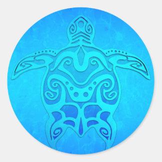 Tortue tribale bleue adhésifs