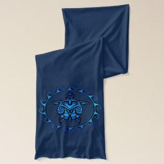 Tortue tribale bleue Sun Écharpe