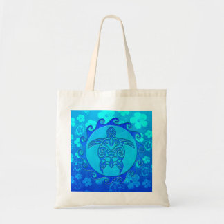 Tortue tribale bleue Sun Sac De Toile