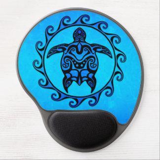 Tortue tribale bleue Sun Tapis De Souris Avec Gel