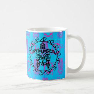 Tortue tribale noire mug blanc