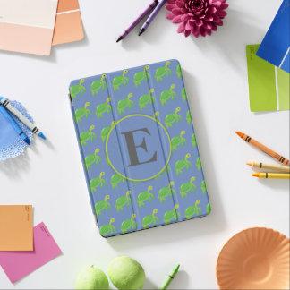 Tortue verte sur la pro couverture d'iPad bleu de Protection iPad Pro