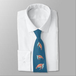 Tortues de mer bleues de mer cravate