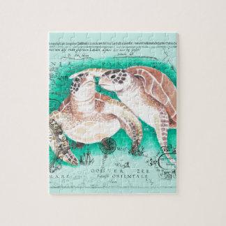 Tortues de mer turquoises puzzle