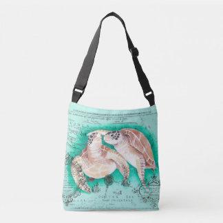 Tortues de mer turquoises sac