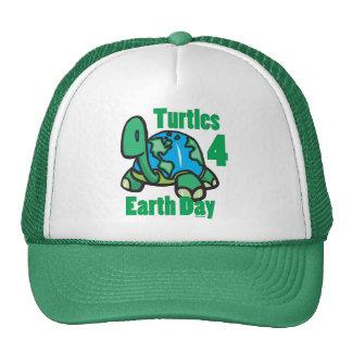 Tortues pour le chapeau de jour de la terre casquette de camionneur