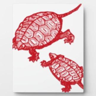 Tortues rouges plaque photo