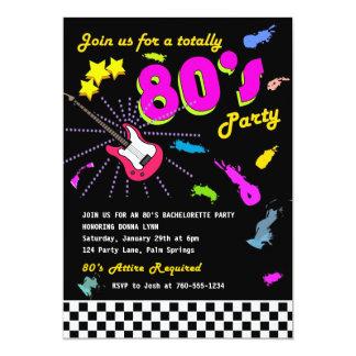 Totalement invitations de partie des années 80