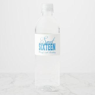 Totalement turquoise, parties scintillantes étiquette pour bouteilles d'eau