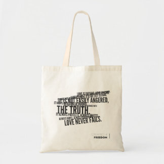 Tote Bag 1 les Corinthiens 13, aiment n'échoue jamais !