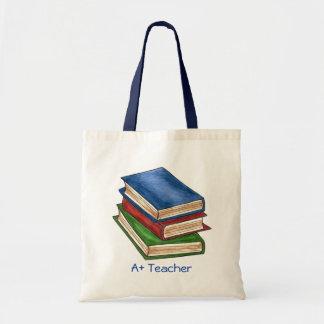 Tote Bag A+ La bibliothèque de bibliothécaire de professeur