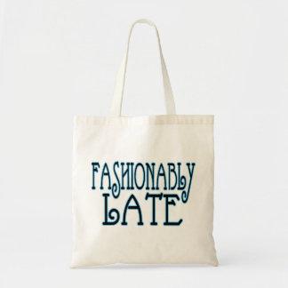 Tote Bag À la mode en retard en valeur l'attente