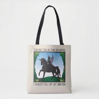 Tote Bag A presque tombé ma licorne