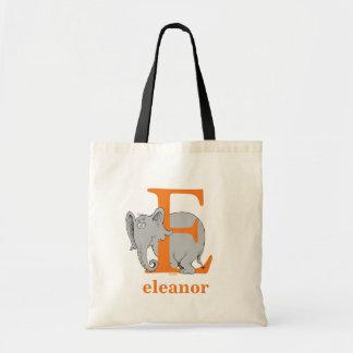 Tote Bag ABC de Dr. Seuss's : Lettre E - L'orange |