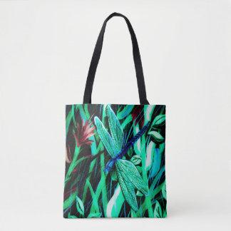 Tote Bag Abrégé sur bleu libellule
