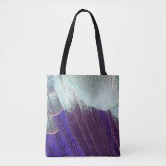 Tote Bag Abrégé sur lilas plume de rouleau de Breasted