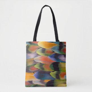 Tote Bag Abrégé sur plumes de queue de perruche