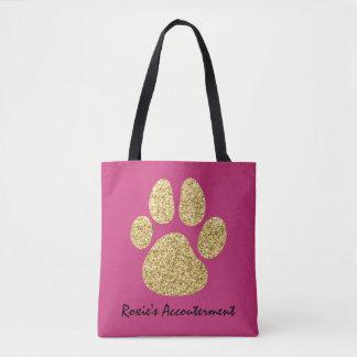 Tote Bag Accouterment de patte de chien de parties