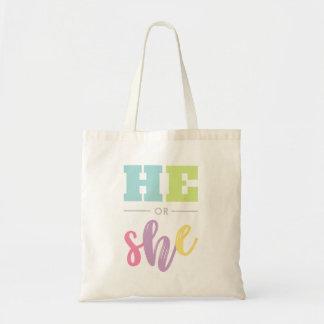 Tote Bag Adorable lui ou elle - le genre indiquent