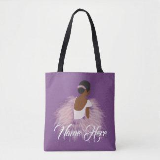 Tote Bag Afro-américain nommé personnalisé de ballerine